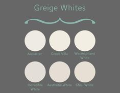The Best Sherwin-Williams Whites: Undertones Explained Sherwin-Williams Greige Whites Here is a quick reference for their color matches that are one shade up on the paint swatch: Incredible White SW 7028 → Agreeable Gray SW 7029 Off White Paint Colors, Greige Paint Colors, Off White Paints, Best White Paint, Wall Paint Colors, Paint Colors For Home, Neutral Paint, House Colors, White Wall Paint