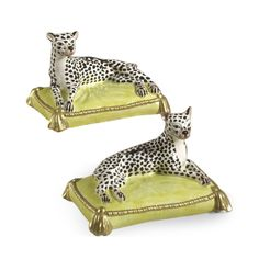 Shop this chelsea house leopards set of two sculpture from our top selling Chelsea House wall decor. LuxeDecor is your premier online showroom for decor and high-end home decor. Decorative Objects, Decorative Accessories, Yellow Pillows, House Wall, Ceramic Flowers, Leopards, Snow Leopard, Cheetah, Hand Painted Ceramics
