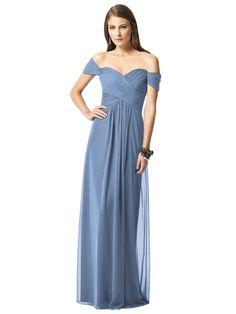 Dessy 2844 Bridesmaid Dress in Windsor Blue colour | Weddington Way