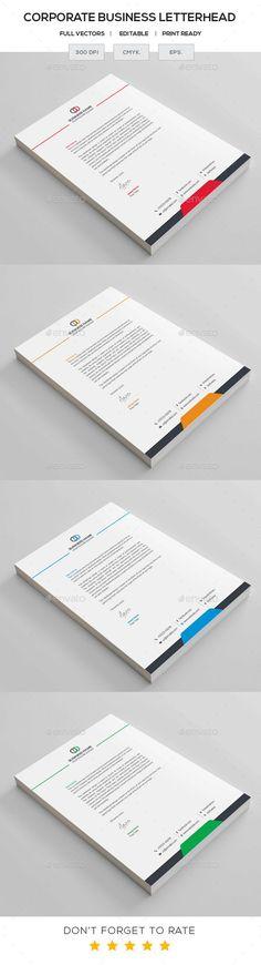 Business Letterhead - Stationery Print Templates