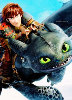Hiccup and Toothless.