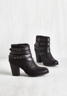 Tried and Troubadour Bootie in Black, #ModCloth