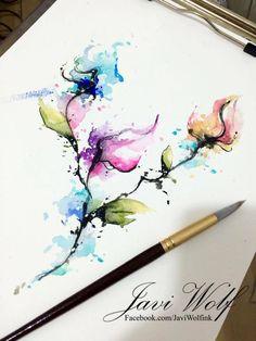 Adivinen ¿Quién anda inspirado? :)pintura y estilo propio.Pintura disponible a la venta y para diseño de tatuaje.Citas & cotizaciones únicamente en www.javiwolf.com