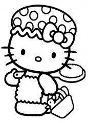 zbarvení stránka Hello Kitty