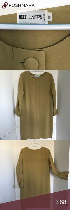 5b11b38a0ab Holt Renfrew vintage silk career dress Sz 10 (C-3) Holt Renfrew vintage