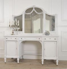 Antique French Rose Swag Vanity