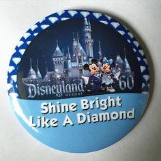 Image of Shine Bright Like A Diamond I'm Celebrating Disneyland Button Disney Diy, Disney Crafts, Disney Pixar, Walt Disney, 60th Anniversary, Diamond Anniversary, Disney Buttons, Disneyland Resort, Disneyland 60th