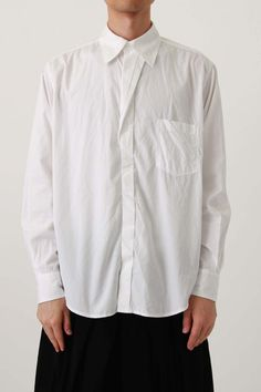 Twist Front Basic Shirt - Yohji Yamamoto Pour Homme