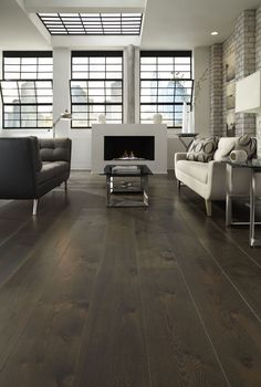 Dark Wood Floors and Prefinished white oak Flooring from Carlisle Wide Plank Floors