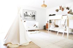 All-white kids' room, Jenni Kayne | THE GLOW
