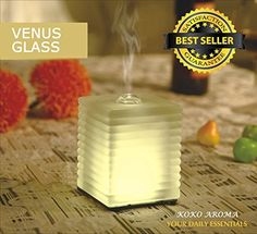 KOKO AROMA Aromatherapy Essential Oil Diffuser (ON SALE Limited Time) - Venus Glass - Innovative Ultrasonic Oil Burner - Best Eco Technology with Soothing Warm LED Light - Elegant and Stylish Spa Vapor Purifier - Your Perfect Companion - Promote Health & Wellness - FREE eBOOK, http://www.amazon.com/dp/B00O8E1P4E/ref=cm_sw_r_pi_awdm_8ZJowb0HZ5J4W