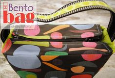 Want to make this Bento Lunch Bag? Here is a complete sewing tutorial that shows you how to make a Bento Bag from Spoonflower Fabrics!