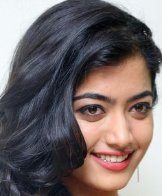 Indian Hot Model Rashmika Mandanna Long Hair Face Close Up Gallery Beautiful Girl Photo, Beautiful Girl Indian, Most Beautiful Indian Actress, Beautiful Long Hair, 10 Most Beautiful Women, Most Beautiful Faces, Beautiful Smile, Beautiful Bollywood Actress, Beautiful Actresses
