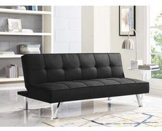 Modern Futon Sofa Convertible Bed Couch Sleeper Lounger Living Room Furniture - Sofa Living - ideas of Sofa Living - Modern Futon Sofa Convertible Bed Couch Sleeper Lounger Living Room Furniture Price : Black Fabric Sofa, Black Sofa, Black Futon, Suede Fabric, Sofa Bed Sleeper, Sofa Couch Bed, Futon Bed, Couch Foam, Dorm Couch