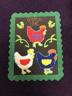 3 French hens 12 days of christmas
