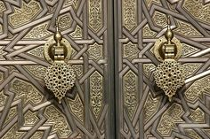 Door Knockers of The Royal Palace in Casablanca
