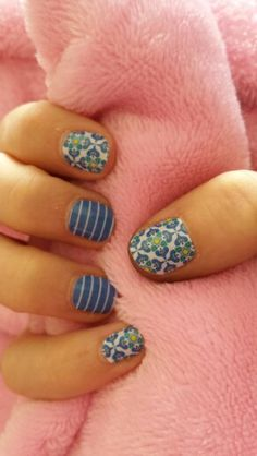 Jamberry Nails: Bellagio and Prepschool available at http://ninacrudiger.jamberrynails.net