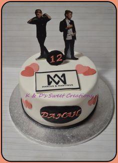 Marcus & Martinus birthday cake by Konstantina Dream Boyfriend, Creative Cakes, Special Day, Party Time, Cake Decorating, Birthday Cake, Yummy Food, Sweet, Desserts