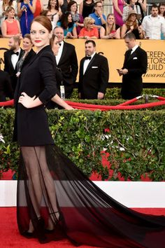 See all of the best SAG Award red carpet arrivals: Emma Stone