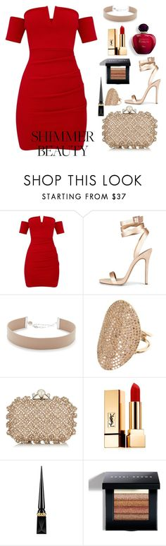 """""""Untitled #178"""" by ladybunny88 ❤ liked on Polyvore featuring Jennifer Zeuner, Jimmy Choo, Yves Saint Laurent, Christian Louboutin and Bobbi Brown Cosmetics"""