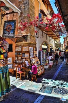 Old town of Rethymno,Crete.