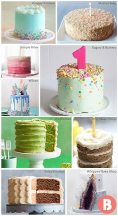 The absolute best birthday cake ideas for your baby's first birthday, and the many more to come!