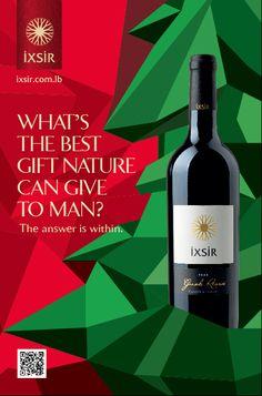 Ixsir, wines of Lebanon, Christmas Visuals & Animation