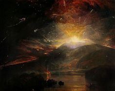 The Eruption of the Souffrier Mountains, in the Island of St Vincent, at Midnight, on the 30th of April, 1812 by Joseph Mallord William Turner