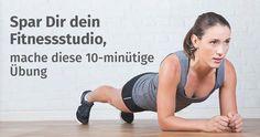 Dieses 10-minütige Workout macht das Fitnessstudio überflüssig. Mache Deine Workouts jederzeit und von überall bei gleichen Resultaten wie regelmäßige Fitnessstudio-Besucher.