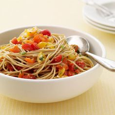 Image of  Pasta with No Cook Tomato Sauce