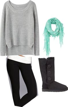 """Not a fan of the sweater but I love the comfy concept """"Comfy Winter Outift"""" by busybeingbecca on Polyvore"""
