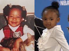Like mother like daughter! Zhuri Nova is looking a lot like her mommy!  #PrincessZhuri #QueenSavannah #zhurijames #cavs #kingjames#lebron #lebronjames #lbj #mvp #champions #nbafinals #nba #cavaliers #cleveland #basketball #finals #nbafinals