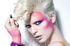 Makeup - how to get the look from then & now Show Makeup, Eye Makeup, Hair Makeup, Punk, 80s Makeup Trends, Makeup Ideas, 1980 Makeup, Vegas Makeup, High Fashion Makeup