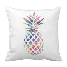 Colorful Pineapple Throw Pillow x - pillows home decor diy cyo pillow design Diy Throw Pillows, Custom Pillows, Decorative Pillows, Pineapple Room Decor, Girls Bedspreads, Diy Cushion, Pillow Sale, Card Making Inspiration, Pillow Design