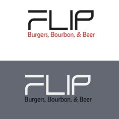 Design a hipster logo for Flip Burgers, Bourbon, Beer!