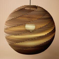 Product photo | Kartonové stínítko / Cardboard shade Sphere