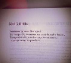 """Noches Fáciles (?Del libro """"Todos mis futuros son contigo"""". Marwan)."""