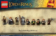 The Fellowship...Lego-style. Looking at the figs (bent knees and arms) certainly suggests a game too.