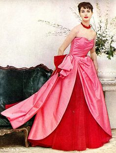 ~What a romantically gorgeous Enka Rayon gown from 1954~