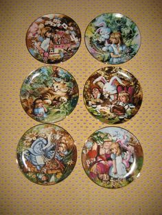 SALE Mint Set of Six Alice in Wonderland Collectors от alanna88