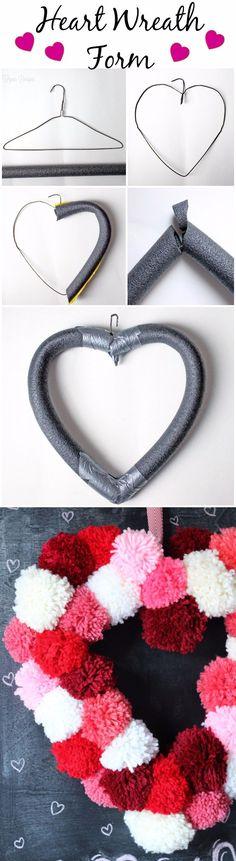 DIY Heart-Shaped Wreath