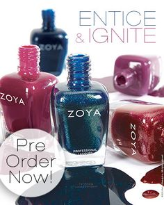 Zoya Entice and Ignite Collections for Fall 2014- Press Release