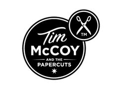 Tim McCoy and the Papercuts Logo ~ By Alphabet Arm Design ~ Typography Vintage Typography, Typography Logo, Typography Design, Logo Branding, Lettering, Graphic Design Branding, Identity Design, Corporate Identity, Logo Inspiration