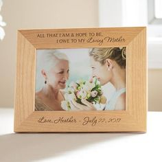 Personalized Mother of the Bride Picture Frame: Custom