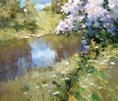 Lilac above river by Alexi Zaitsev