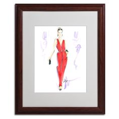 Red Hot by Jennifer Lilya Matted Framed Painting Print
