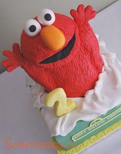 SweetThings: 2nd Birthday: Elmo Cakes