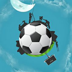 Prezi template with a soccer ball concept.  Includes human silhouettes and animated clouds on the background.  Create a fascinating story and present how to reach your goal.  A good Prezi for a motivational or marketing presentation.  Add, move or delete slides to create your own unique presentation.  All images are movable separately.