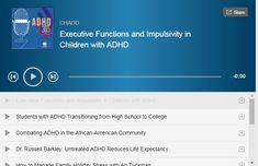 Podcasts - CHADD Adhd Odd, Executive Functioning, How To Become, High School, Audio, Student, Messages, Education