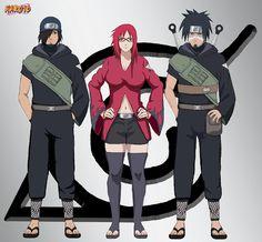 Since I drew a new Team Sasuke, I couldn't forget about Karin. Here is her new barrier squad with Izumo and Kotetsu. Gues she stayed in konoha after all Team Karin Naruto Uzumaki, Naruto Oc, Naruto Girls, Shikamaru, Anime Naruto, Boruto, Hinata, Anime Echii, Anime Ninja